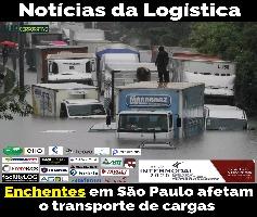 Enchentes em São Paulo afetam transporte de cargas