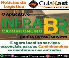 O Aplicativo InfraBR localiza serviços essenciais para os Caminhoneiros