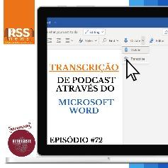 Transcrição de podcast através do Microsoft WORD