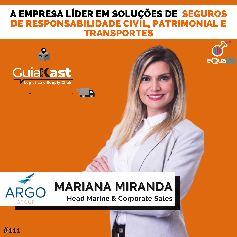 Mariana Miranda e a empresa que oferece soluções em seguros de Responsabilidade Civil, Patrimonial e Transportes